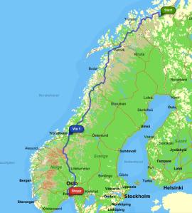 Alta to Tønsberg
